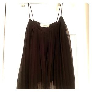 Abercrombie and Fitch Black Pleated Top
